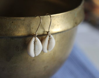 Timeless Simple Cowrie Earrings.