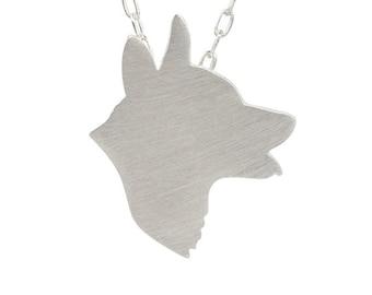 Corgi necklace, Corgi jewelry, Corgi charm, Corgi silhouette - Sterling Silver dog necklace, custom dog jewelry, dog charm pet memorial gift