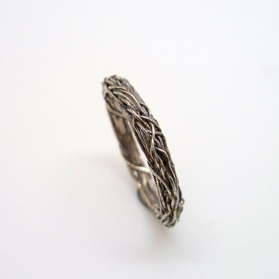 Ivy Ring - Thin, Romantic, Sterling Silver Wreath Ring