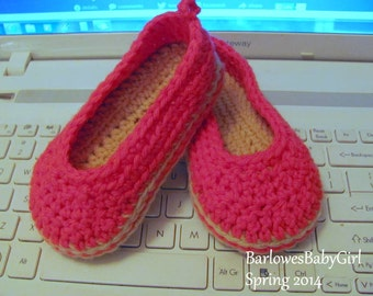 NEW - Buggs - Crochet Toddler Espadrille Wedge Shoes in Hot Pink