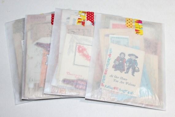 Grab Bag - 25 Piece Vintage Ephemera Collage Kit
