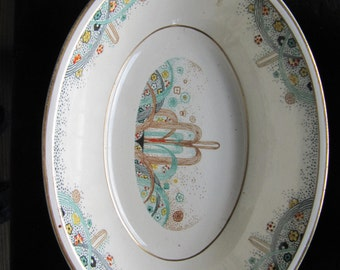 "SALE  10"" Serving Bowl for 1925 World's Fair China"