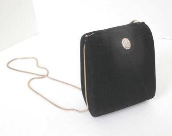 Black Velvet Formal Evening Handbag or Purse