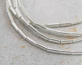 170 of Karen Hill Tribe Silver  Tubular Beads 1.2x4mm., 27 inches / string  :ka3918