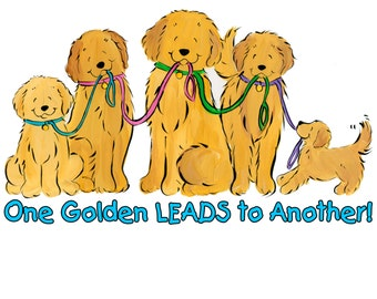 Golden Retriever One Golden Leads to Another T shirt