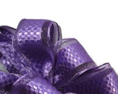 "Purple Wire Ribbon... 1.5"" X 12 Feet"