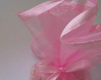 """Pink 10"""" Organza Rounds"""