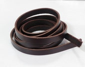 """3/8"""" Brown Real Leather Straps for Bag or Purse"""