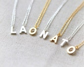 Initial Necklace A-Z / choose your color and initial