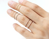Dotted Lines knuckle Ring / Choose your color, gold and silver