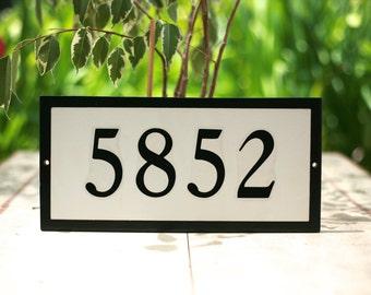 House Numbers  BLACK Border  Custom House Number Tile Plaque Address Plaque