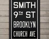 BROOKLYN (SMITH / 9th ST) New York City Subway Sign. Bus Scroll. 12 x 18 Rollsign Print