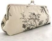 Long clutch: Australian Flora Vintage Look Bag Purse Clutch