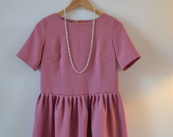 Dusky Pink Pleated dress