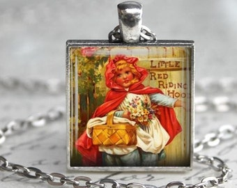 Little Red Riding Hood Necklace - Charm - Free Chain or Keyring (302)