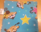 Reusable Sandwich Bag  Eco Friendly Monkey Print with Velcro Closure and Nylon water resistance interior