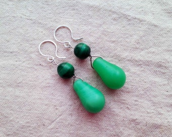 AMANMU African malachite mali wedding earrings by Fianaturals