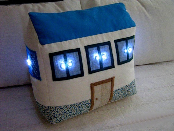 Nursery Decor. Nightlight House Sewing Patterns DIY Nurseryy Light Kids Decor Children Decorations