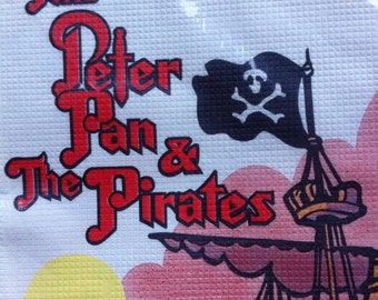 SALE Two 2 Vintage Paper Tablecloth New In Package NOS Peter Pan Pirates PIRATE Birthday Great Colors 1991 Happy Birthday Party Tablecloth