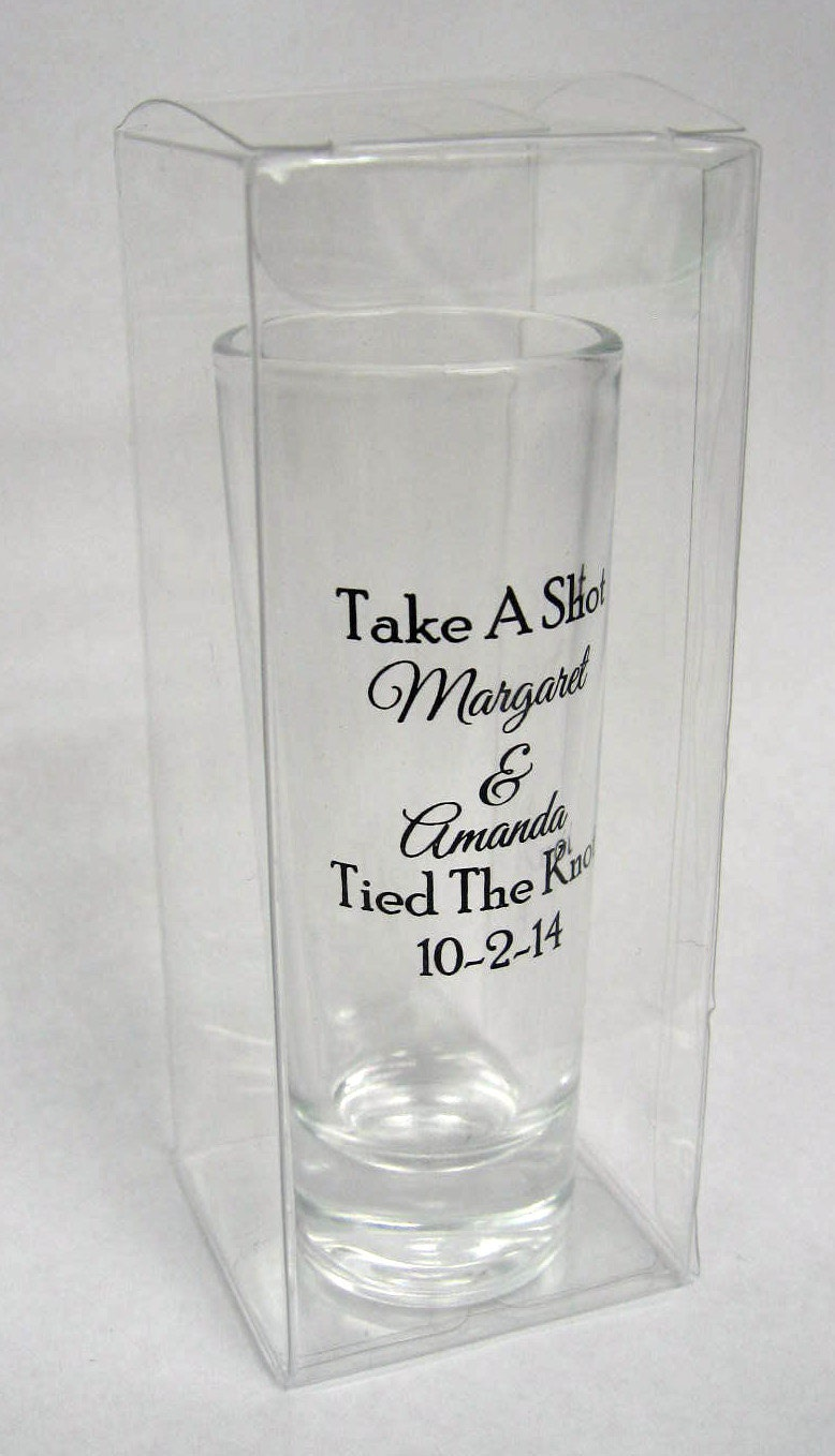 50 Clear Boxes for Wedding Favors - Perfect for 2oz Tall Shot Glasses ...