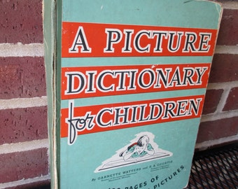 Vintage Picture Dictionary For Children