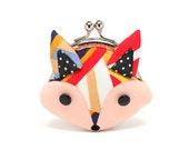 Radiating colors little fox mini wallet