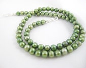 Basil Green Freshwater Pearls for Interchangeable Multi Strand Necklace