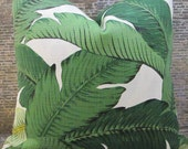 Designer Pillow Cover - Lumbar, 16 x 16, 18 x 18, 20 x 20, 22 x 22 - Outdoor Tropical Palm Leaf Green