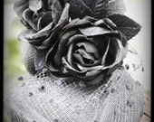 The Black Widow small black percher cocktail hat