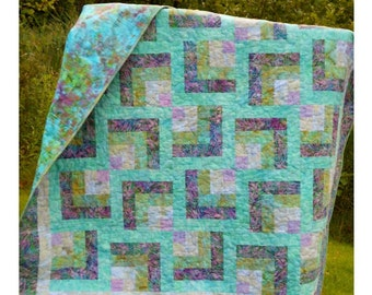 Quilt Pattern - Purple Maze EASY QUILT PATTERN!