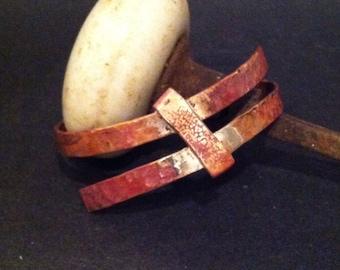 Rustic Copper Wrap Bangle