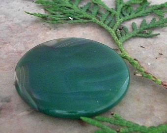 Green Onyx Agate Round Gemstone                      CC-20597