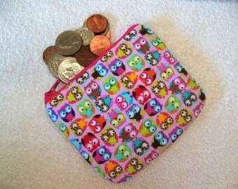 Owls coin pouch