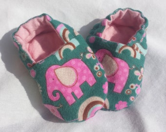 Baby Shoes Booties - Elephants for girls
