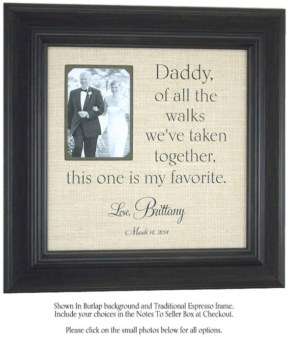 Father Of The Bride Wedding Gifts: Dad Frame Father Of The Bride Wedding Gift Parent