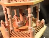 Wooden Candle Carousel with Nativity Scene with box
