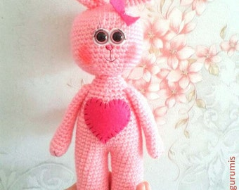 Rabbits PDF Crochet Pattern  Instant Download