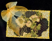 Golden Christmas Card with Bow