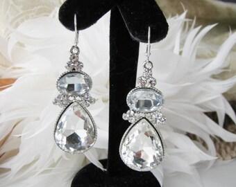 bridesmaid gift, bridal earrings, bridal jewelery, wedding jewelry, bridesmaid jewelry, bridesmaid earrings, wedding earring Pageant Jewelry
