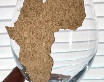 Africa Earrings - Africa Shaped Earrings - Africa Shaped Studs