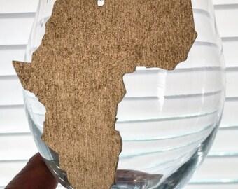 Africa Earrings - Africa Shaped Earrings - Africa Shaped Studs - Large Africa