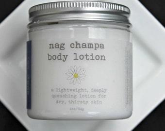 VACATION SALE  Nag Champa Body Lotion, Vegan Lotion 4oz, Patchouli Lotion