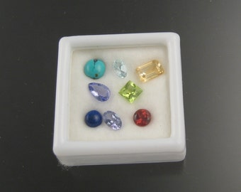 Eight Assorted Natural colored gemstones