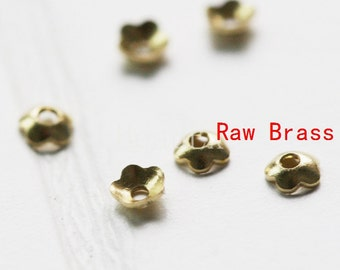 400 Pieces / Flower Bead Cap / Bead Caps / Spacer / Raw Brass / 3mm (C1700//P281)