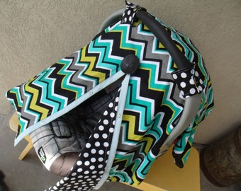 Carseat Canopy Lagoon Chevron Cover Boy