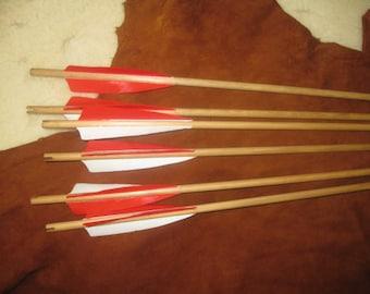 Port Orford Cedar, self nocked target arrows 11/32 diameter