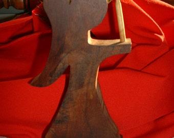Vintage Handmade Wood Christmas Angel, Holiday Home Decor