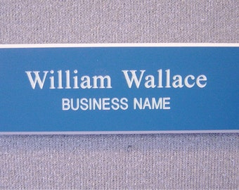 Economical Nametags - BLUE & WHITE ONLY