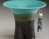 Turquoise and Black  Earring Holder