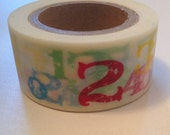 Washi Tape Multi color block NUMBERS  Japanese Washi Tape